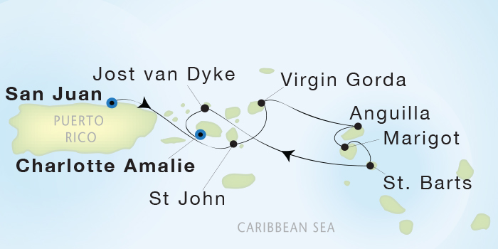 SINGLE Cruise - Balconies-Suites Seadream Yacht Club, Seadream 2 March 19-26 2019 San Juan, Puerto Rico to St. Thomas