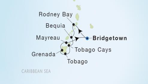 7 Seas Luxury Cruises Seadream II schedule 2023