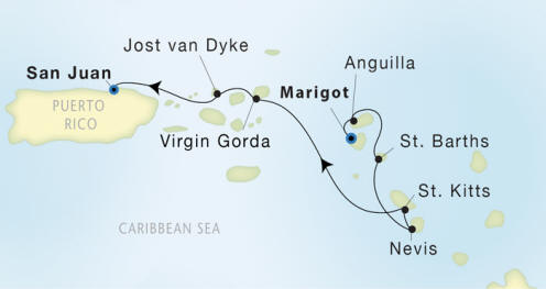 7 Seas Luxury Cruises Seadream II schedule 2022