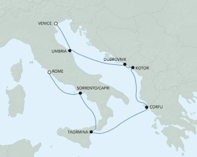 Singles Cruise - Balconies-Suites Seven Seas Explorer - RSSC April 19-26 2020 Cruises Venice, Italy to Civitavecchia, Italy