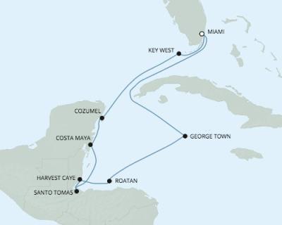 LUXURY CRUISE - Balconies-Suites Seven Seas Explorer - RSSC February 14-24 2020 Cruises Miami, FL, United States to Miami, FL, United States