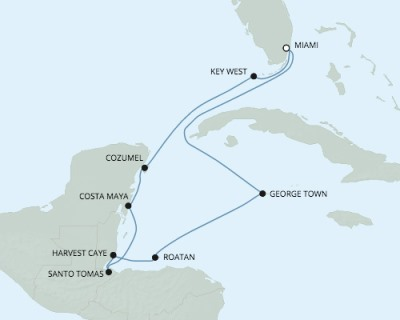 SINGLE Cruise - Balconies-Suites Seven Seas Explorer - RSSC February 14-24 2020 CRUISE Miami, FL, United States to Miami, FL, United States