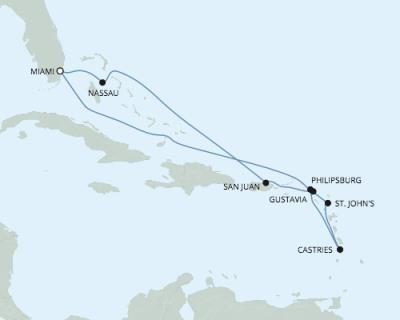 SINGLE Cruise - Balconies-Suites Seven Seas Explorer - RSSC February 4-14 2020 CRUISE Miami, FL, United States to Miami, FL, United States
