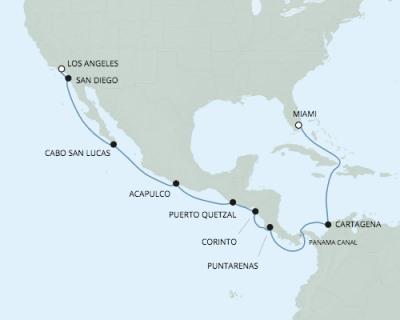Just Regent Cruises Seven Seas Explorer - RSSC January 15-30 2017 Cruises Los Angeles, CA, United States to Miami, FL, United States