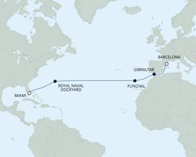 Singles Cruise - Balconies-Suites Seven Seas Explorer - RSSC March 26 April 9 2020 Cruises Miami, FL, United States to Barcelona, Spain
