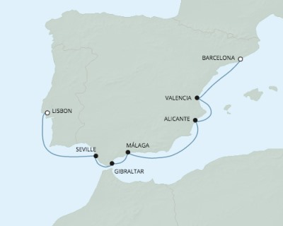 LUXURY CRUISE - Balconies-Suites Seven Seas Explorer - RSSC May 21-28 2020 Cruises Barcelona, Spain to Lisbon, Portugal