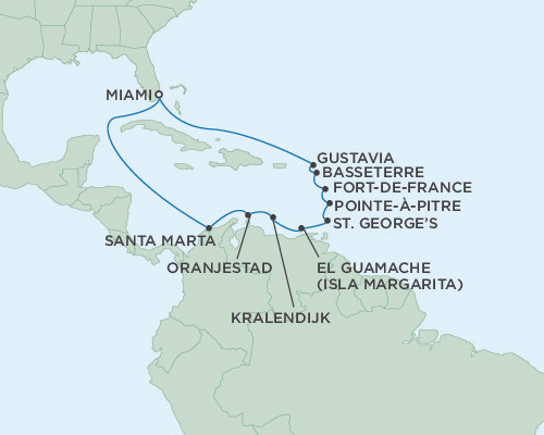 Singles Cruise - Balconies-Suites Seven Seas Mariner March 25 April 8 2019 Miami, Florida to Miami, Florida