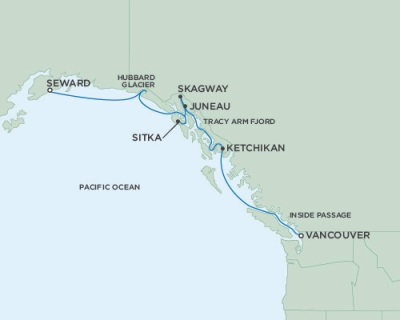 Singles Cruise - Balconies-Suites Seven Seas Mariner August 10-17 2019 Vancouver, British Columbia, Canada to Anchorage (Seward), AK