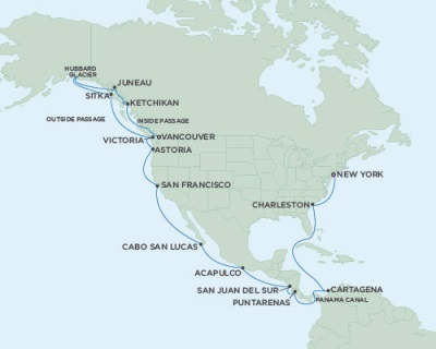 Singles Cruise - Balconies-Suites Seven Seas Mariner August 24 September 21 2019 Vancouver, British Columbia, Canada to New York (Manhattan), NY