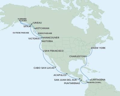 World CRUISE SHIP BIDS - Seven Seas Mariner August 24 September 21 2023 Vancouver, British Columbia, Canada to New York (Manhattan), NY
