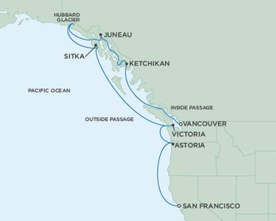LUXURY CRUISE - Balconies-Suites Seven Seas Mariner August 24 September 3 2019 Vancouver, British Columbia, Canada to Anchorage (Seward), AK
