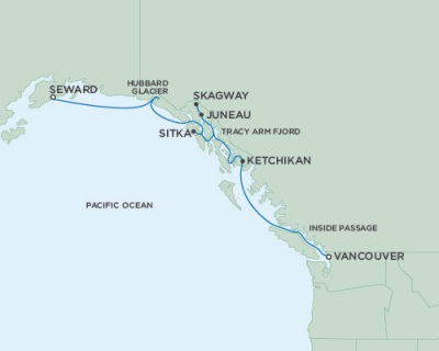 LUXURY CRUISE - Balconies-Suites Seven Seas Mariner June 22-29 2019 Anchorage (Seward), AK to Vancouver, British Columbia, Canada