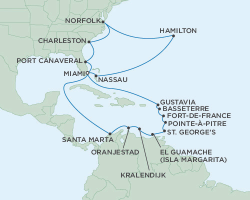 Singles Cruise - Balconies-Suites Seven Seas Mariner March 25 April 20 2019 Miami, Florida to Miami, Florida