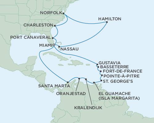 Singles Cruise - Balconies-Suites Seven Seas Mariner March 25 April 20 2019 Miami, Florida to Miami, Florida