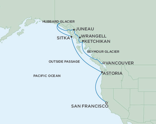 LUXURY CRUISE - Balconies-Suites Seven Seas Mariner May 8-18 2019 San Francisco, California to Vancouver, British Columbia, Canada