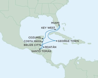 Seven Seas Mariner November 15-26 2016 Miami, FL to Miami, FL