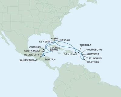 Singles Cruise - Balconies-Suites Seven Seas Mariner November 4-26 2019 Miami, FL to Miami, FL