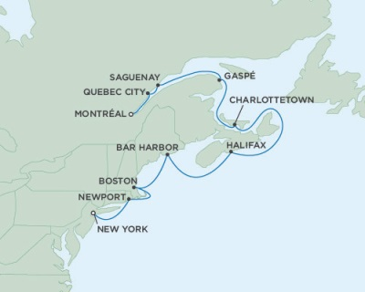 LUXURY CRUISE - Balconies-Suites Seven Seas Mariner October 1-11 2019 Montreal, QC, Canada to New York (Manhattan), NY