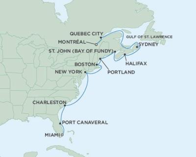 Singles Cruise - Balconies-Suites Seven Seas Mariner October 21 November 4 2019 >Montreal, QC, Canada to Miami, FL