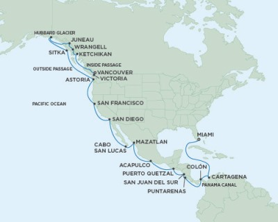 Seven Seas Mariner - RSSC April 25 May 24 2017 Cruises Miami, FL, United States to Vancouver, Canada