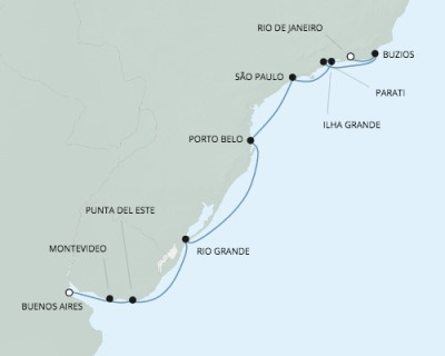 Seven Seas Mariner - RSSC February 25 March 8 2017 Cruises Buenos Aires, Argentina to Rio De Janeiro, Brazil