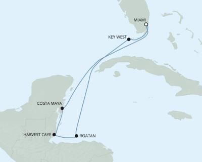 Singles Cruise - Balconies-Suites Seven Seas Mariner - RSSC January 4-11 2020 Cruises Miami, FL to Miami, FL