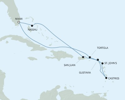 SINGLE Cruise - Balconies-Suites Seven Seas Mariner - RSSC March 29 April 8 2020 CRUISE Miami, FL, United States to Miami, FL, United States