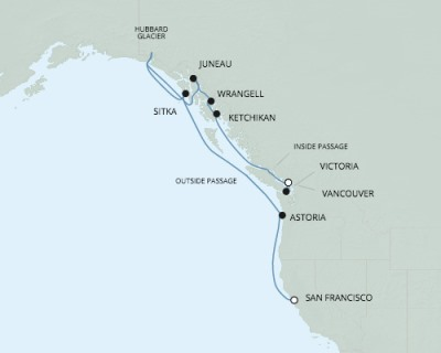 Singles Cruise - Balconies-Suites Seven Seas Mariner - RSSC May 13-24 2020 Cruises San Francisco, CA, United States to Vancouver, Canada
