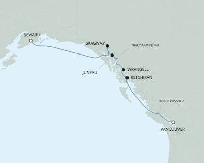 SINGLE Cruise - Balconies-Suites Seven Seas Mariner - RSSC May 24-31 2020 CRUISE Vancouver, Canada to Seward, AK, United States