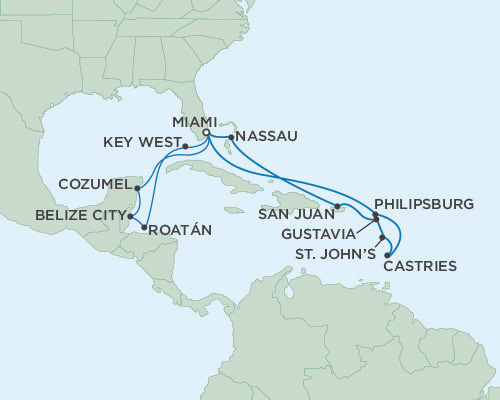 Singles Cruise - Balconies-Suites Seven Seas Navigator Febuary 29 March 17 2019 Miami, Florida to Miami, Florida