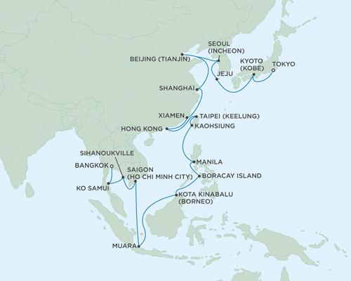 SINGLE Cruise - Balconies-Suites Seven Seas Navigator February 3 March 7 2019 Bangkok (Laem Chabang), Thailand To Tokyo, Japan