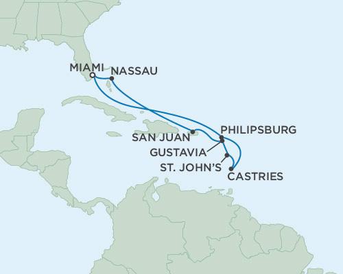 Singles Cruise - Balconies-Suites Seven Seas Navigator January 10-20 2019 Miami, Florida to Miami, Florida