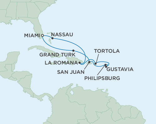 Radisson Luxury Cruises -  Navigator January 20-30 2021 Miami, Florida to Miami, Florida