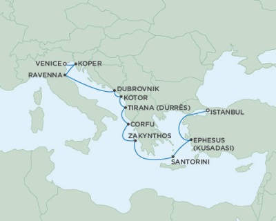 Singles Cruise - Balconies-Suites Seven Seas Navigator July 25 August 6 2019 Istanbul, Turkey to Venice, Italy