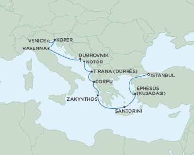 SINGLE Cruise - Balconies-Suites Seven Seas Navigator June 13-25 2019 Istanbul, Turkey to Venice, Italy