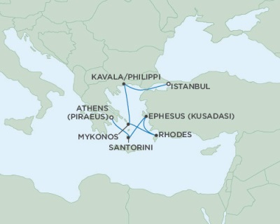 Singles Cruise - Balconies-Suites Seven Seas Navigator June 6-13 2019 Athens (Piraeus), Greece to Istanbul, Turkey