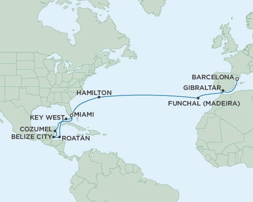 Singles Cruise - Balconies-Suites Seven Seas Navigator March 10-31 2019 Miami, Florida to Barcelona, Spain