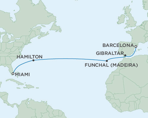 Radisson Luxury Cruises -  Navigator March 17-31 2021 Miami, Florida to Barcelona, Spain