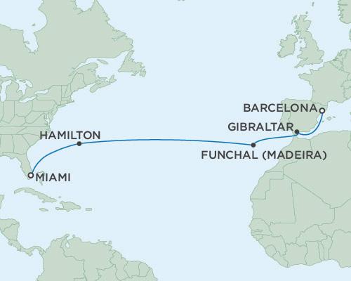 Radisson Luxury Cruises -  Navigator March 17-31 2021 Miami, Florida to Barcelona, Spain