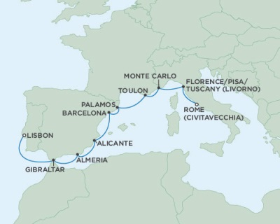 SINGLE Cruise - Balconies-Suites Seven Seas Navigator October 13-23 2019 Venice, Italy to Lisbon, Portugal