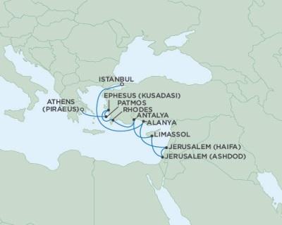 Singles Cruise - Balconies-Suites Seven Seas Navigator September 15-26 2019 Istanbul, Turkey to Athens (Piraeus), Greece