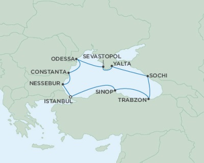 Singles Cruise - Balconies-Suites Seven Seas Navigator September 5-15 2019 Istanbul, Turkey to Istanbul, Turkey