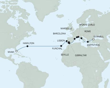 Just Regent 7 Cruises Navigator - RSSC April 21 May 13 2024 Cruises Istanbul, Turkey to Miami, FL United States