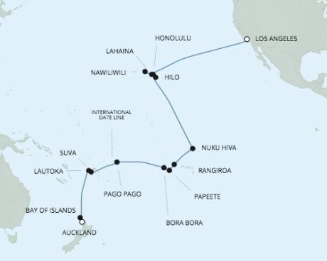 Cruises Around The World Seven Seas Navigator - RSSC January 21 February 19 2020 Cruises Los Angeles, California to Auckland, New Zealand
