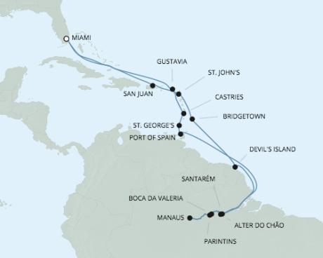 Just Regent 7 Cruises Navigator - RSSC May 23 June 17 2024 Cruises Miami, FL, United States to Miami, FL, United States