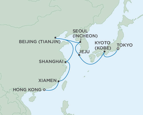 Seven Seas Voyager February 20 March 7 2016 Hong Kong, China To Tokyo, Japan