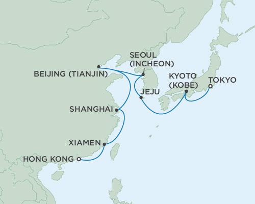 Radisson Luxury Cruises -  Voyager February 20 March 7 2021 Hong Kong, China To Tokyo, Japan