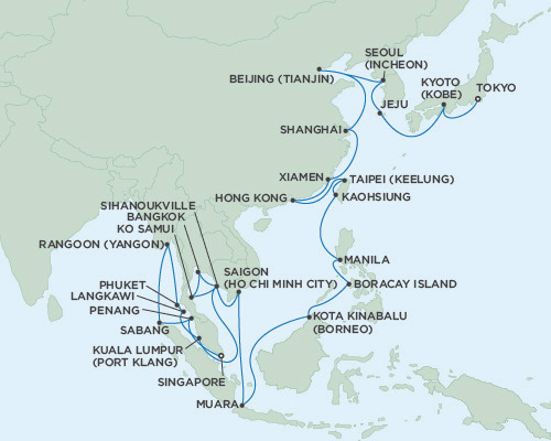 Seven Seas Voyager January 18 March 7 2016 Singapore To Tokyo, Japan