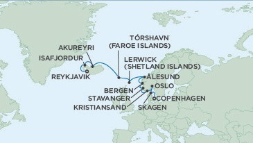 LUXURY CRUISE - Balconies-Suites Seven Seas Voyager July 11-23 2019 Reykjavik, Iceland to Copenhagen, Denmark