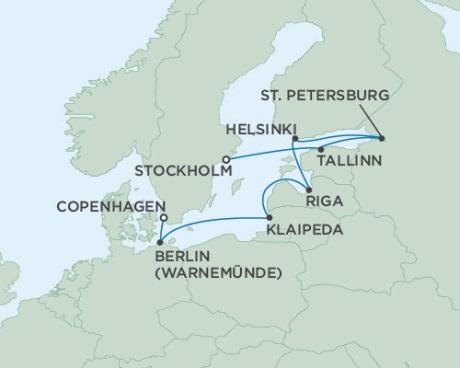 Singles Cruise - Balconies-Suites Seven Seas Voyager July 23 August 2 2019 Copenhagen, Denmark to Stockholm, Sweden